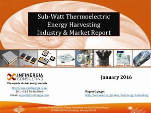Market Report Brief About Low Power Thermoelectric Generators