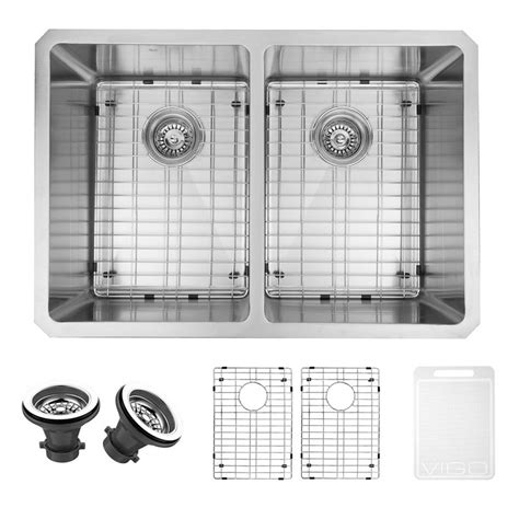stainless steel grid for kitchen sink vigo undermount stainless steel 29 in basin 9394