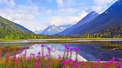 Alaska Spring Wallpapers Mountains Background Kenai Backgrounds