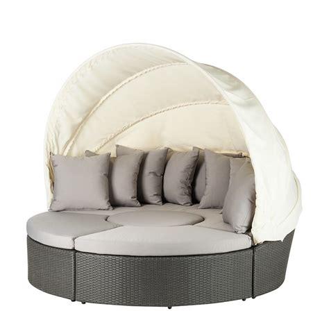 rattan lounge grau sonneninsel paradise lounge 4 teilig grau kaufen home24