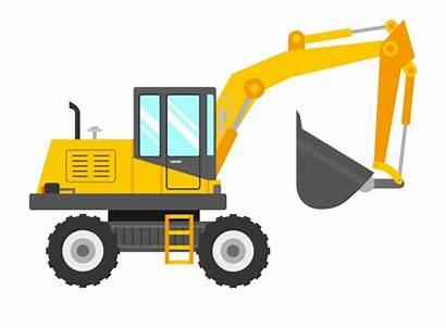 Digger Excavator Clip Clipart Backhoe Svg Kid