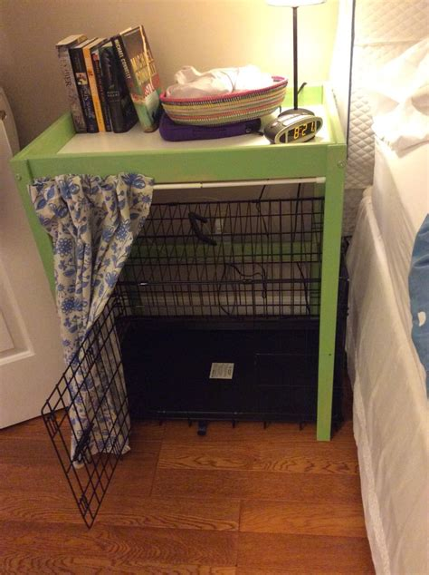 ikea changing table hack bedside table  dog crate