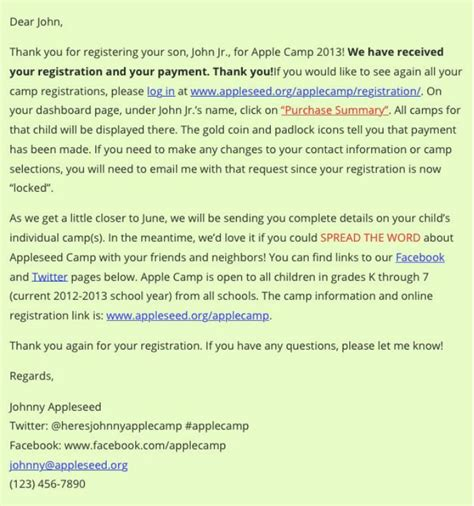 conference registration email template the best sles of event registration confirmation email