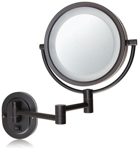 lighted makeup mirror amazon amazon com jerdon hl65bzd 8 inch lighted wall mount