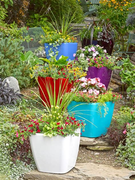 Outdoor Pots And Planters by Large Square Planters Self Watering Rolling Planter