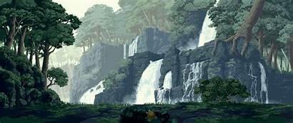 Pixel Landscape Forest Nature Rock Pixelated Pixels