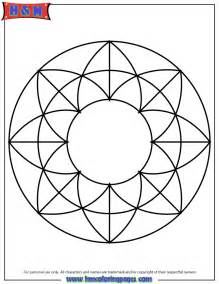 Simple Mandala Coloring Pages
