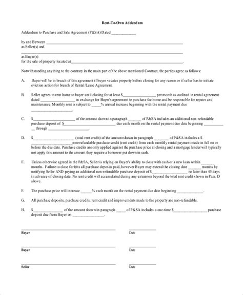 Sample Rent To Own Home Contract  Resume Template Sample