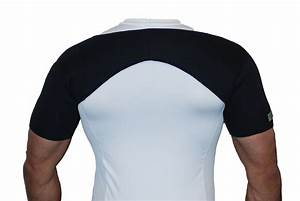 Black Double Shoulder Support Strap Neoprene Brace Injury ...