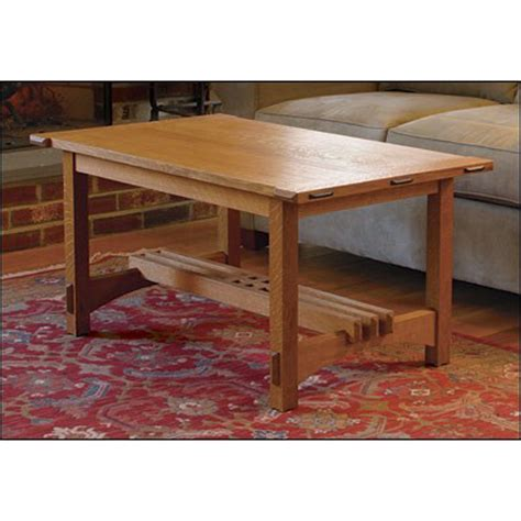 arts  crafts coffee table plan woodworking plans