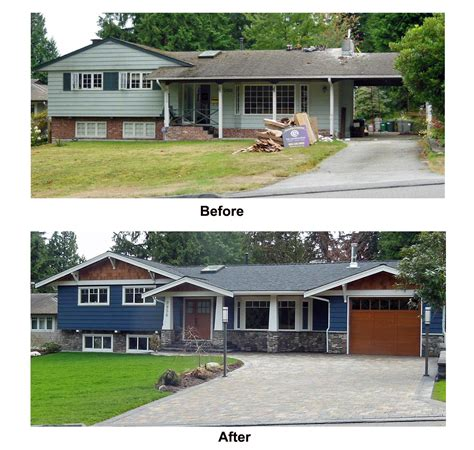home design and remodeling split level house remodel before and after sle picture