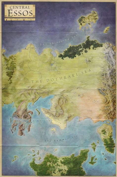 map  central essos  song  ice  fire books