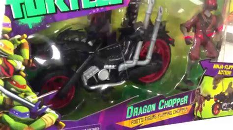 tmnt dragon chopper ninja turtles flipping motorcycle  dragon fang action figure toy