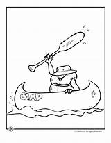 Coloring Pages Camping Canoe Camp Summer Theme Activities Clipart Woojr Bear Fish Traditional Travel Crafts Jr Wood Designlooter Picolour Craft sketch template