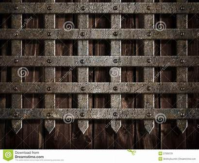 Castle Gate Medieval Wall Metal Background Clipart