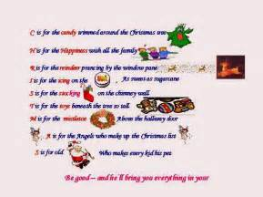 Christmas Alphabet Words