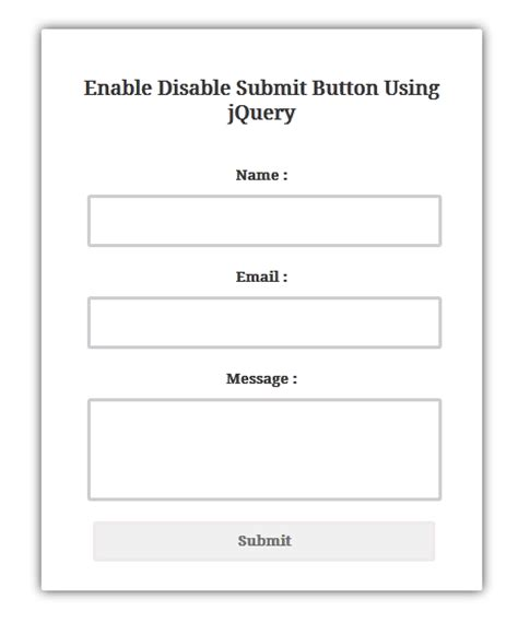 enable disable submit button using jquery programming