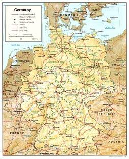 Ģeogrāfiskā karte - Vācija - 1,012 x 1,248 Pikselis - 381 ...