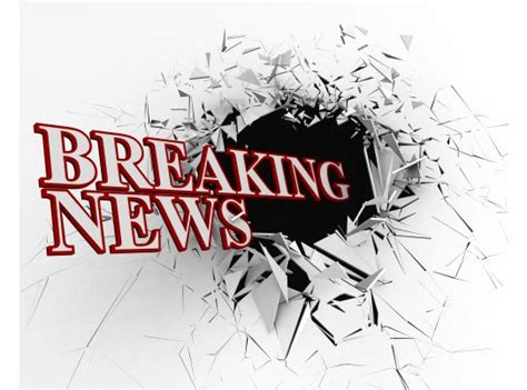 breaking news text   crack background stock photo