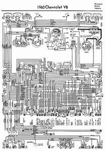 Electrical Wiring Diagram For 1960 Chevrolet V8 Biscayne  Belair  And Impala