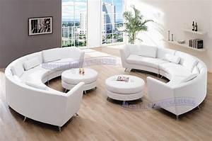 Exklusive Sofas Und Couches : exclusive modern furniture vip sectional with two white leather sofas and 2 ottomans ~ Bigdaddyawards.com Haus und Dekorationen
