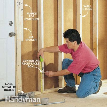 how to wire a room in house electrical online 4u how to rough in electrical wiring the family handyman