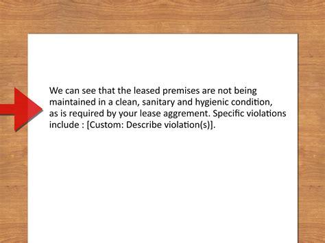 write  warning letter   tenant  steps