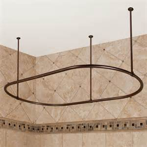How To Mount A Shower Curtain Rod by Oval Shower Curtain Rod Contemporary Shower Curtain Rods