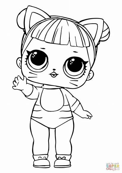 Lol Coloring Dolls Cat Printable Doll Pages