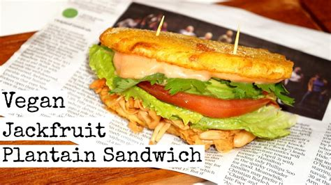 r駭ov cuisine breadless plantain sandwich vegan food