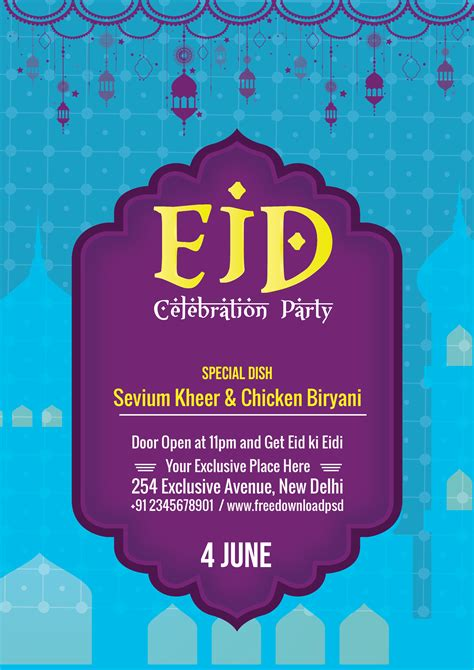 eid flyer social media template freedownloadpsdcom
