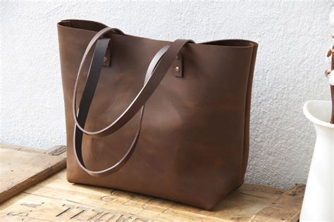 leather handbag tote large brown leather tote bag sturdy premium waxed leather