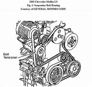 2003 Chevy Malibu Ls Fan Belt Broke Need Diagram To Put