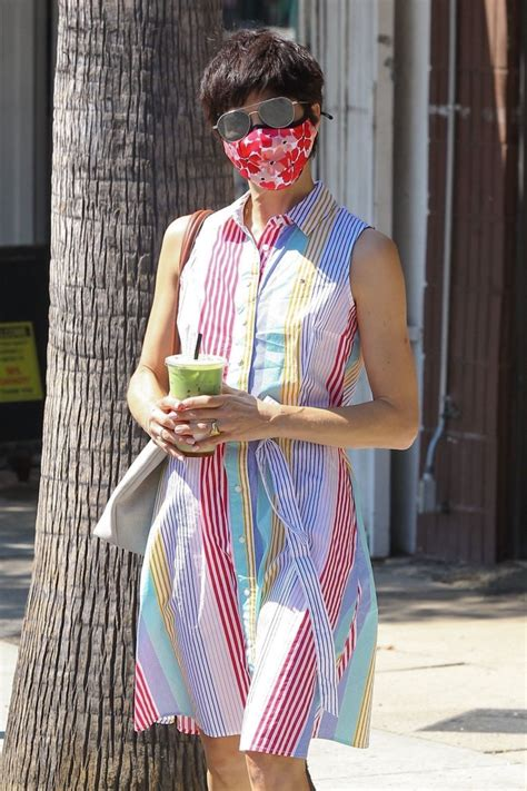 Press alt + / to open this menu. SELMA BLAIR at Alfred's Coffee in Studio City 08/25/2020 - HawtCelebs