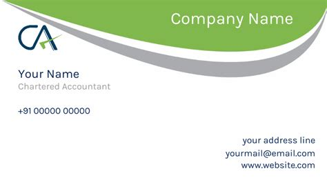 Visiting Card Chartered Accountant Visiting Card Design