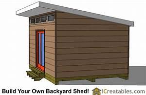 12x16 Studio Shed Plans Center Door