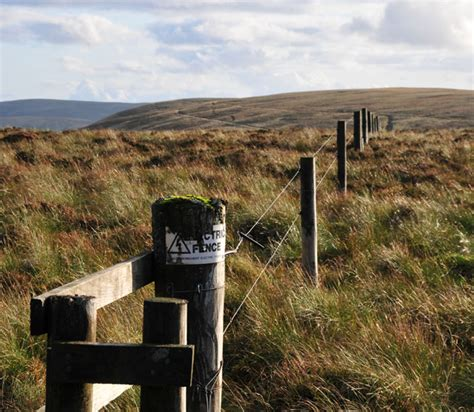 File Electric Fence Surrounds Shiel Hill Geograph