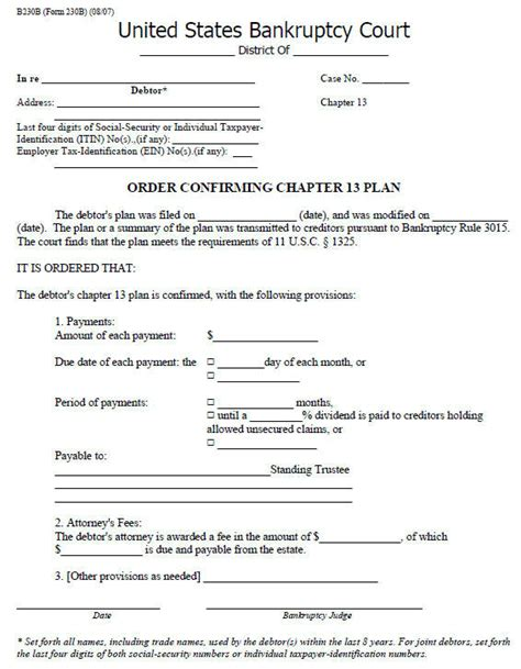 confirmation  amending  chapter  repayment plan