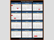 Australia Holidays 2018