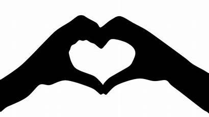 Hands Silhouette Heart Clip Svg