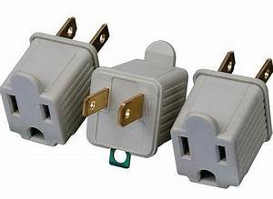 3 Ac Outlet Adapters 3 Prong Converter To 2 Blade