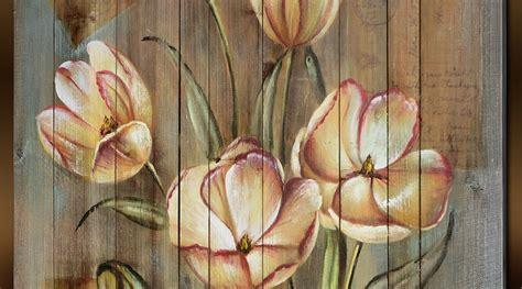 peinture sur planche de bois peinture 224 l huile sur support bois fleurs