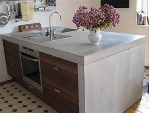 Arbeitsplatte Küche Betonoptik : arbeitsplatte beton k che selber bauen ~ Sanjose-hotels-ca.com Haus und Dekorationen