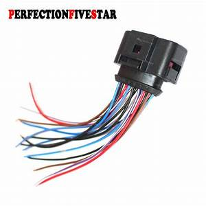 6x0973717 Wire Plug Harness Connector For Vw Touran Touareg Transporter Golf Jetta Passat For