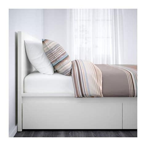 Malm Cadre Lit, Haut+4rgt  160x200 Cm, , Blanc Ikea