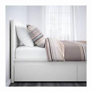 Lit Ikea 140x200 : malm cadre lit haut 4rgt 160x200 cm blanc ikea ~ Teatrodelosmanantiales.com Idées de Décoration