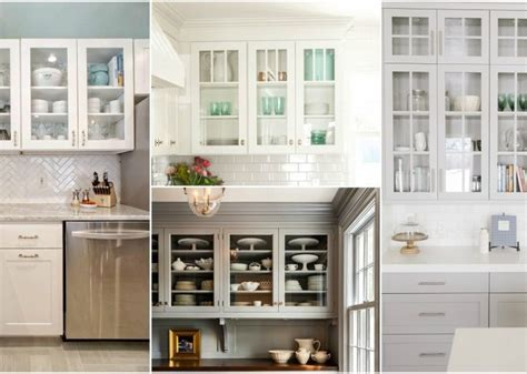 Ideas For Glass Kitchen Cabinets by How To Style Your Glass Front Kitchen Cabinets In A