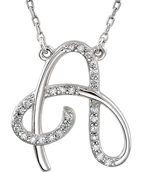 Diamond Alphabet Initial Letter Necklaces A to Z - Boomer ...