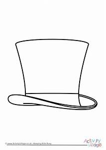Top Hat Colouring Page