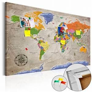Carte Du Monde En Liège : tableau en li ge carte du monde style r tro tableau et ~ Melissatoandfro.com Idées de Décoration